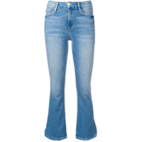 Frame Cropped Flared Jeans - Azul