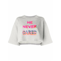 Marcelo Burlon County Of Milan Camiseta He Never Cared - Cinza