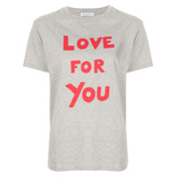 Bella Freud Camiseta 'love For You' - Cinza