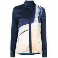 Aje Stevens Satin Shirt - Azul