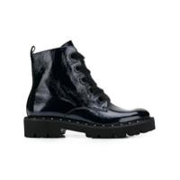Kennel&schmenger Ankle Boot De Couro Com Cadarço - Azul
