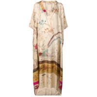 Pierre-Louis Mascia Vestido Longo Floral - Neutro