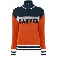 Carven Suéter Color Block - Laranja