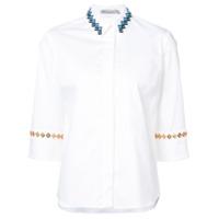 Mary Katrantzou Camisa Com Detalhe Bordado - Branco