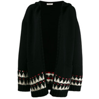 Saint Laurent Hooded Knitted Cardigan - Preto