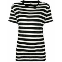 R13 Striped T-Shirt - Preto