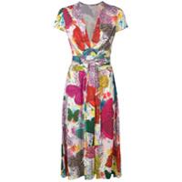 Ultràchic Vestido Com Estampa De Borboleta - Rosa