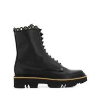 Pollini Ankle Boot Com Detalhe Ondulado - Preto