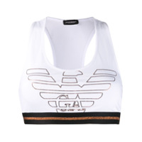 Emporio Armani Top Esportivo Com Logo - Branco