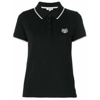 Kenzo Camisa Polo Com Logo - Preto