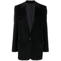 Blazé Milano Corduroy Tailored Blazer - Preto