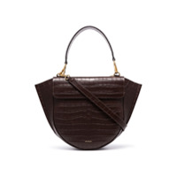 Wandler Brown Hortensia Medium Mock Croc Leather Shoulder Bag - Marrom