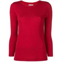 Sottomettimi Blusa De Tricô - Vermelho
