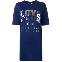 Love Moschino Vestido T-Shirt Com Logo - Azul