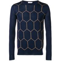 Boglioli Suéter De Tricô Estampado - Azul