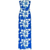 Bernadette Vestido Tomara-Que-Caia Longo Carrie Com Estampa Floral - Azul