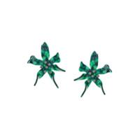 Lele Sadoughi Par De Brincos Florais - Green