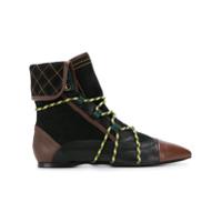 Carven Ankle Boot De Couro - Preto