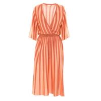 Gig Vestido Folk Decote V - Rosa