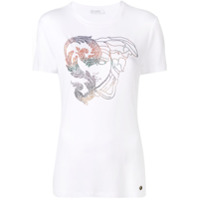 Versace Collection Camiseta Medusa Com Aplicações - Branco