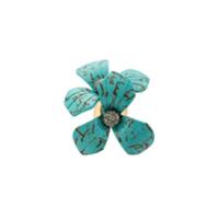 Lele Sadoughi Anel Floral Oversized - Azul