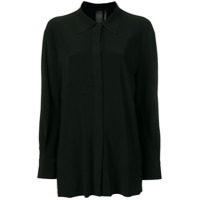 Norma Kamali Camisa Com Fechamento Oculto - Preto