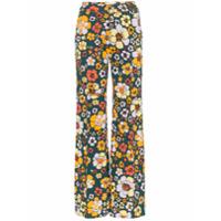 Cap Calça De Tricô Floral 'penelope' - Multicoloured