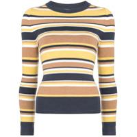 Joostricot Blusa De Tricô Listrada - Amarelo