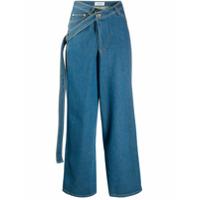 Lanvin Calça Jeans Pantalona Com Cinto - Azul