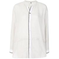 Pas De Calais Camisa Listrada - Branco
