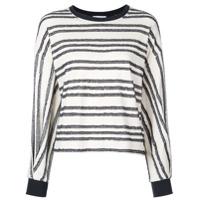 Kinly Suéter Listrado - Branco