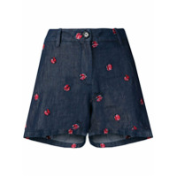 Love Moschino Short Com Estampa De Joaninha - Azul