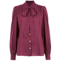 Dolce & Gabbana Camisa Com Gola Laço - Rosa