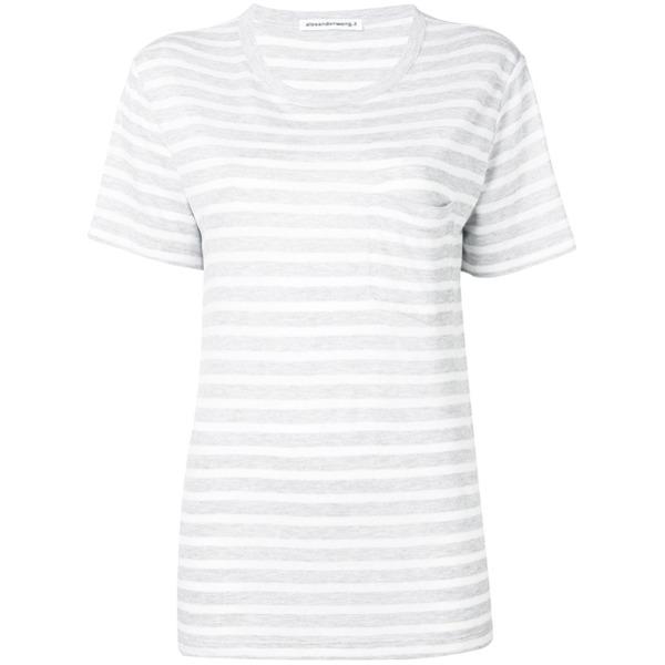 alexanderwang.t striped T-shirt - Cinza