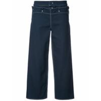 Harvey Faircloth Calça Cropped 'sailor' - Azul