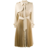 Sandro Paris Trench coat Vino com pregas - Neutro