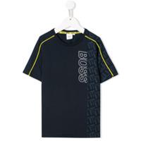 BOSS Kidswear Camiseta com estampa de logo - Azul - FarFetch BR