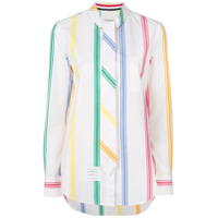 Thom Browne Camisa Listrada - Branco