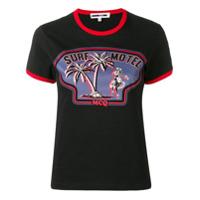 Mcq Alexander Mcqueen Camiseta Surf Motel - Preto