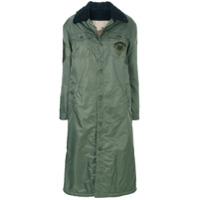 History Repeats Buttoned Long Jacket - Verde