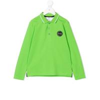 Boss Kids Camisa Polo Com Patch De Logo - Green