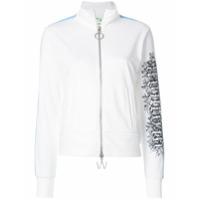 Off-White Jaqueta De Moletom Com Bordado - Branco