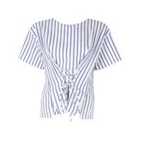 Portspure Blusa Listrada Com Amarração - Branco