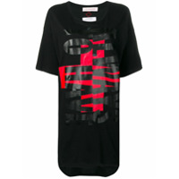 A.f.vandevorst Print T-Shirt Dress - Preto