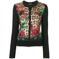 Dolce & Gabbana Cardigã Com Animal Print - Neutro
