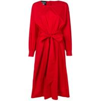 Boutique Moschino Vestido Midi Com Cinto - Vermelho