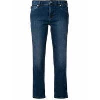 Love Moschino Calça Jeans Cropped Cintura Baixa - Azul