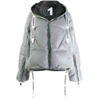 Khrisjoy Hooded Puffer Jacket - Prateado