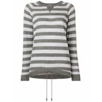 Eleventy Suéter Com Padronagem Listrada - Cinza