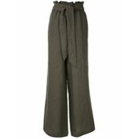 Asceno Calça Pantalona Com Cinto - Verde